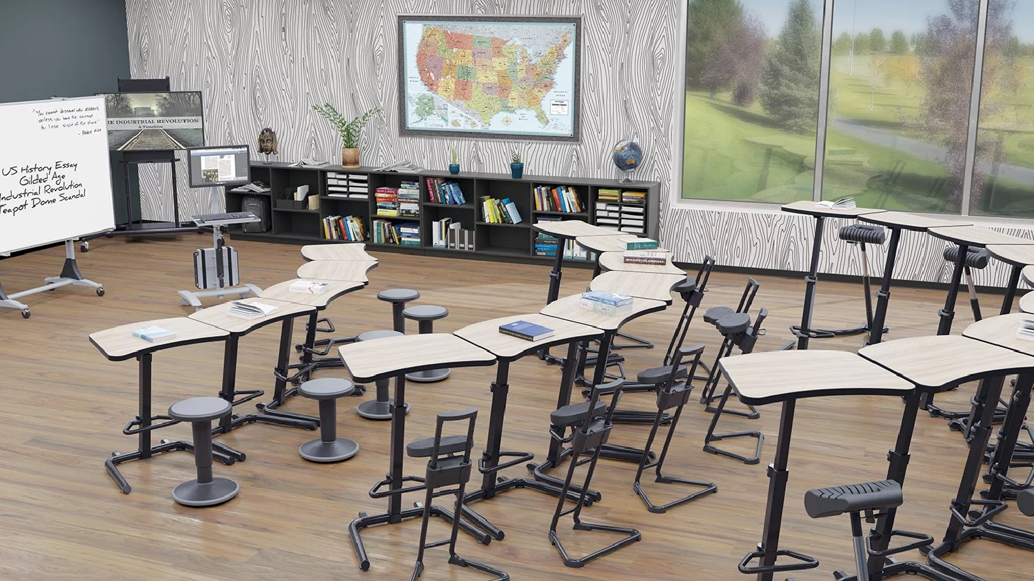Sit-to-Stand Classroom for Higher Ed