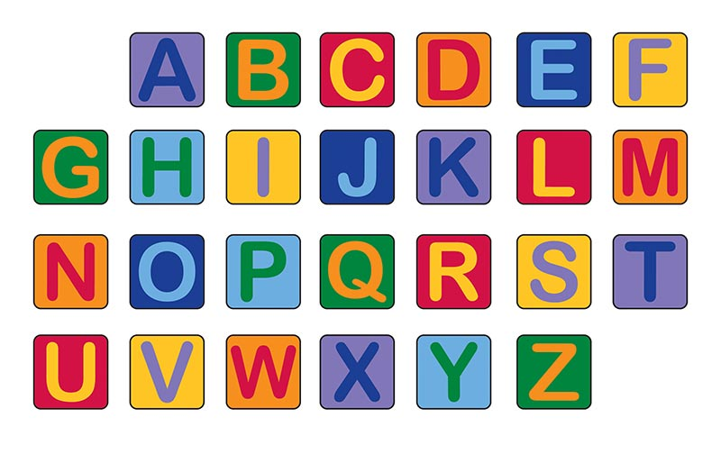 Alphabet Seating Squares Set of 26 by Learning Carpets CPR944 at Signature School Products