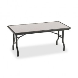 Iceberg Folding Tables, Granite/Black Legs - Multiple options
