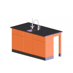 """UV Finish Forward Vision III 2 Student Workstation with Sink, 68""""W - 2 Top Types"""