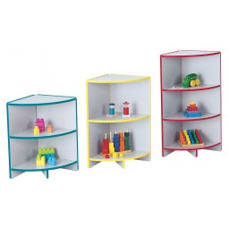 Jonti-Craft Rainbow Accents Outside Corner Storage - Three Sizes in Multiple Colors