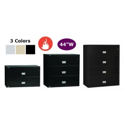 """Phoenix Safe Usa 44""""W Lateral Fire File with Key Lock - Letter or Legal - Select Size & Color"""