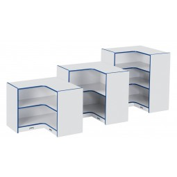Jonti-Craft Rainbow Accents Inside Corner Storage - Three Sizes in Multiple Colors