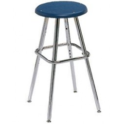 """Artcobell 0801 08 Series Adjustable Height Art/Lab Stool with Poly Top 19"""" - 27½"""" Height"""