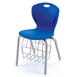 """18""""H A Shell Chair with Book Rack - Discover Series by Artcobell"""