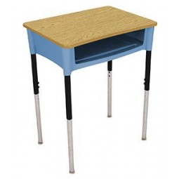 """Artcobell DA0D Open Front Desk 18"""" x 24"""" - Laminate or Solid Plastic Tops - Several Colors Available"""