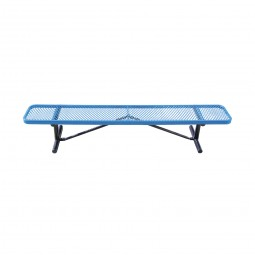 Standard Expanded Metal Bench without Back by Leisure Craft