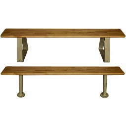 """Hallowell Maple Bench Top, 144""""W x 9.5""""D x 1.25""""H, Natural Maple, Requires 3 Pedestals - sold separately"""
