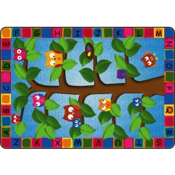 Alphabet Owls Educational Rug