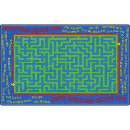 Never Give Up Educational Rug
