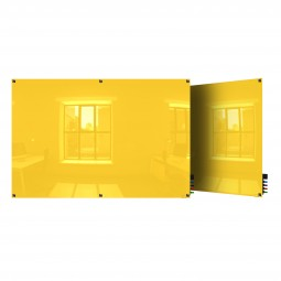 Harmony Colored Magnetic Glass Boards - Square Corners - 5 Sizes in 8 Colors by Ghent
