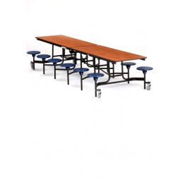 12' Cafeteria Table with 12 Stools - National Public Seating MTS12-PBTMPC
