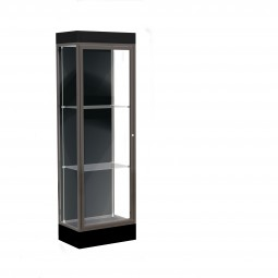 """Waddell Edge Series 91 2' Wide Lighted Floor Case with 6"""" base - Multiple Options"""