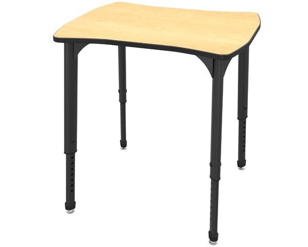 24 X 28 Dog Bone Desk Apex 38, Dog Leg Desk