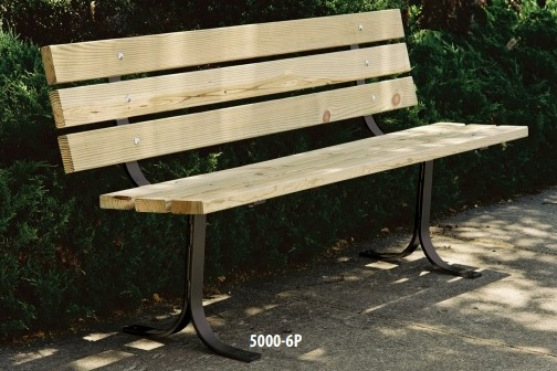 Pleasant 6 Pine Outdoor Wooden Bench With Back By Leisure Craft 5000 6P Gmtry Best Dining Table And Chair Ideas Images Gmtryco