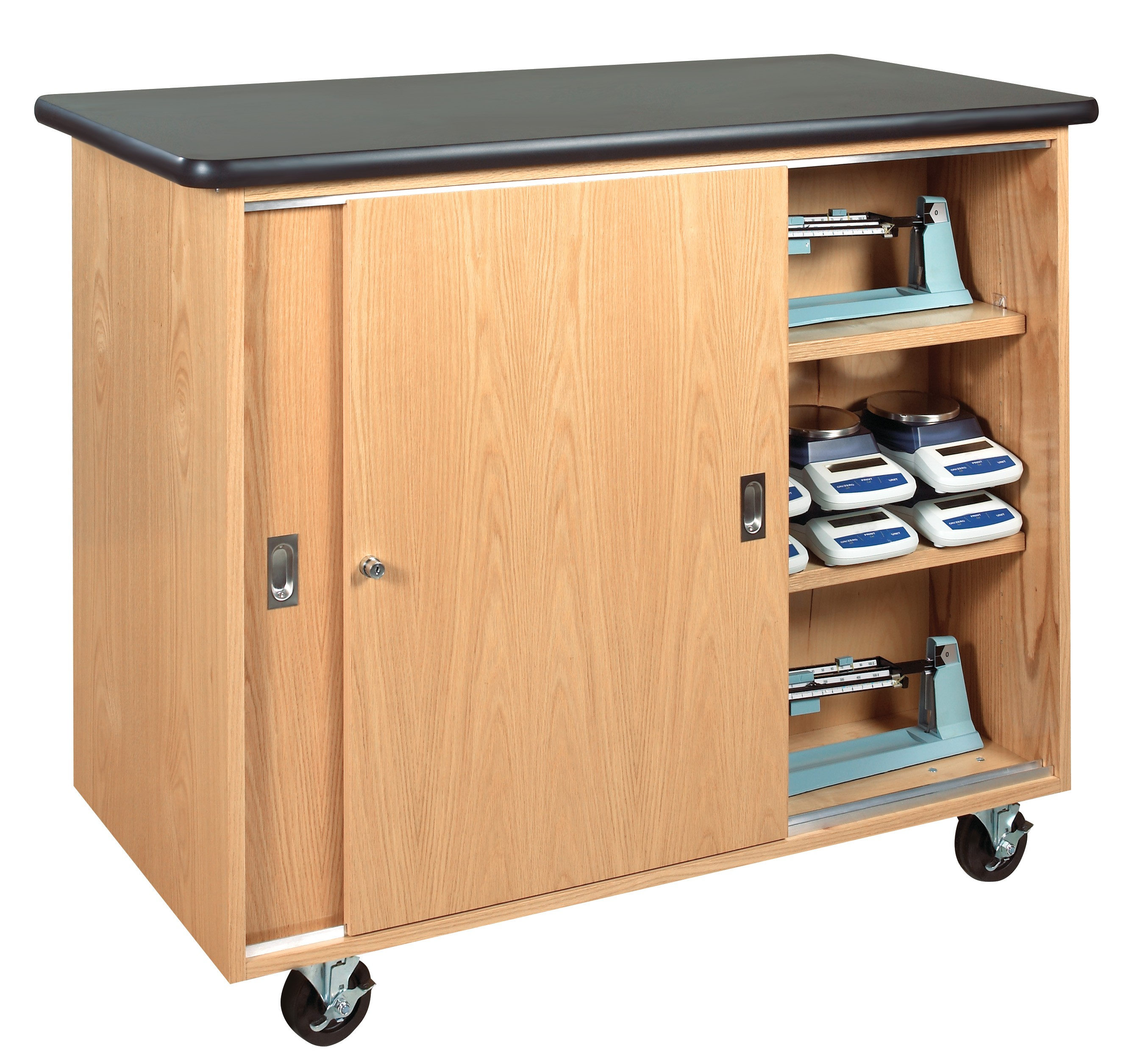 Mobile Storage Cabinet With Wood Top Cabinets Decorating