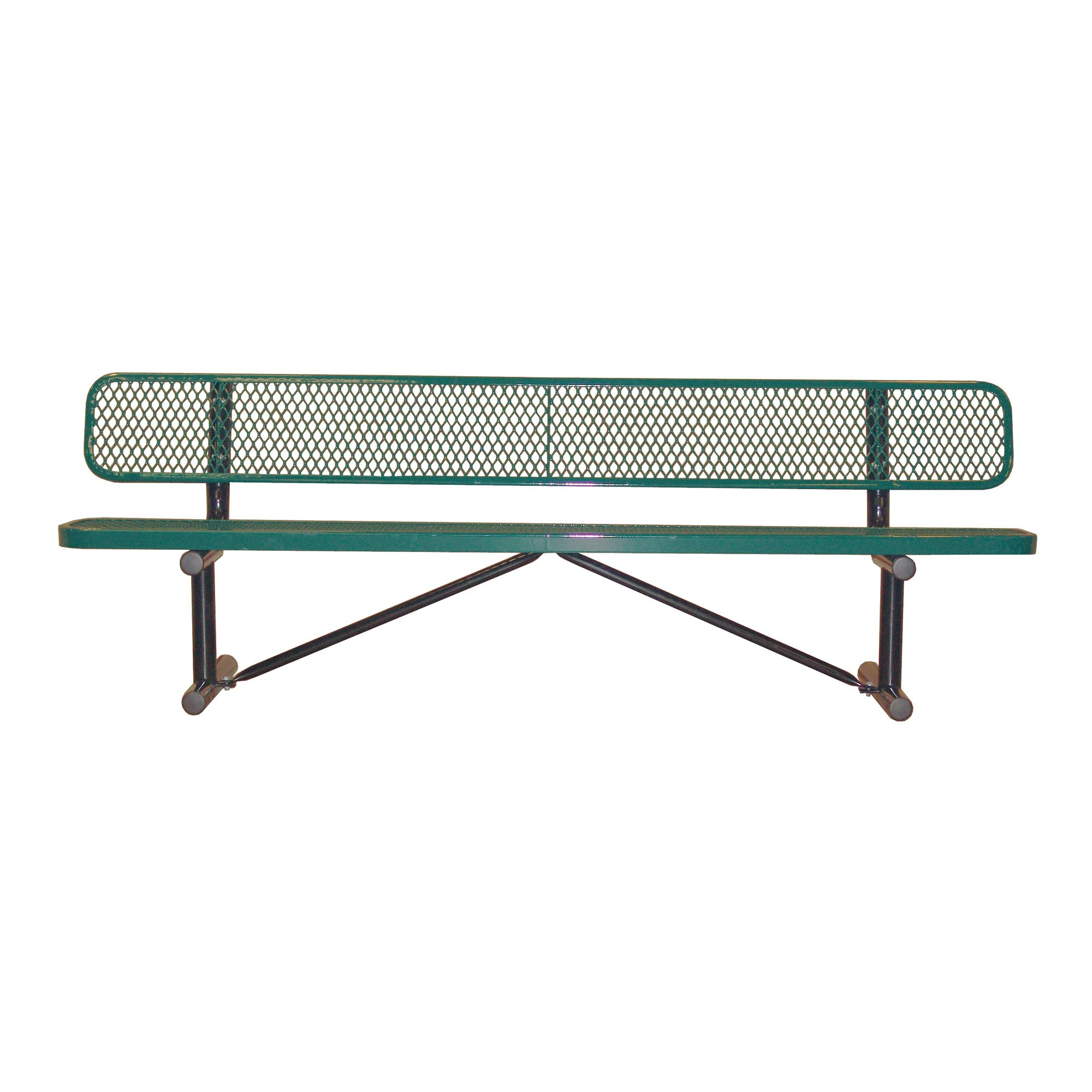 8 Standard Expanded Metal Bench With Back By Leisure Craft B8wbp