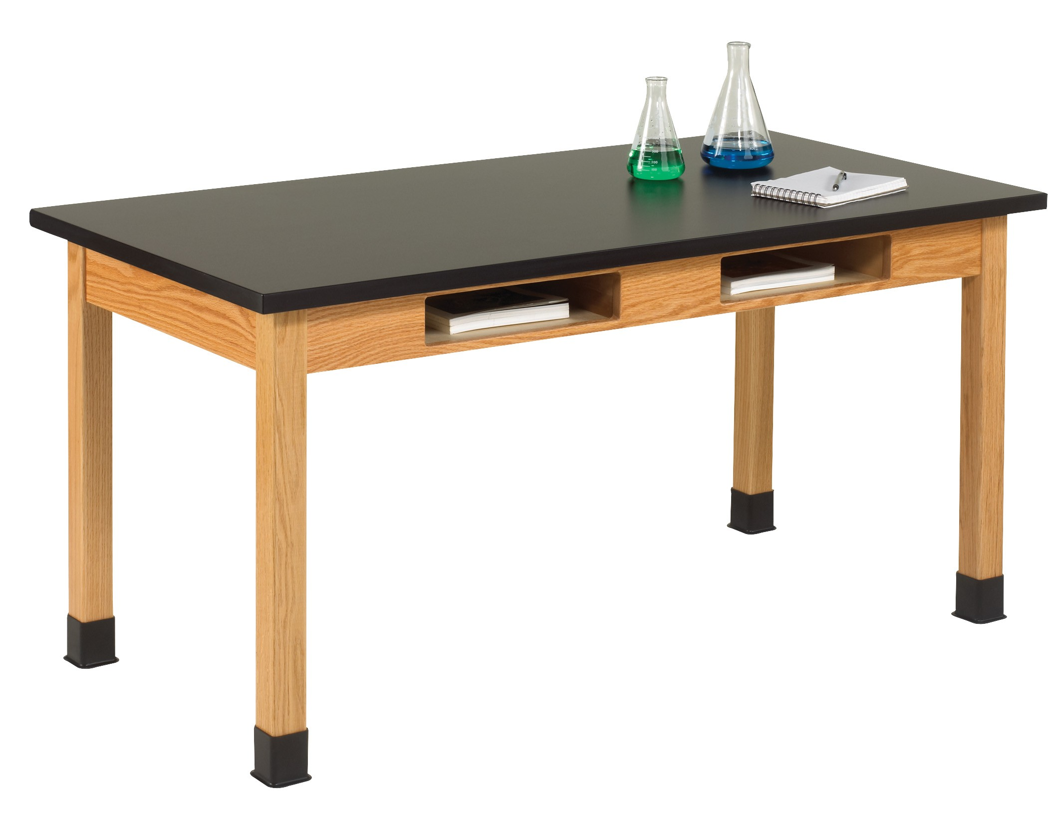 Uv Finish Solid Oak Wood Table With Book Compartment 60 W 3 Top Types