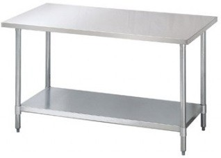 Chernoff Stainless Steel Cafeteria Food Prep Tables Choose Size