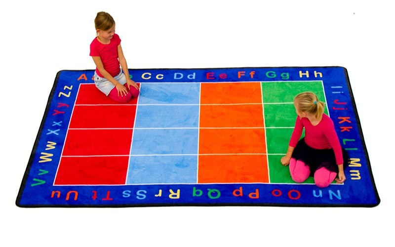 ABC Squares Small Rectangular Rug by Learning Carpets CPR455