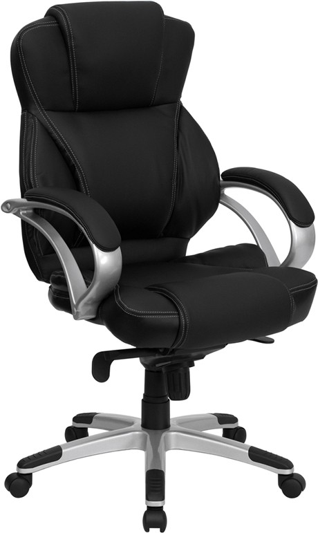 Cool High Back Black Leather Contemporary Office Chair Home Interior And Landscaping Palasignezvosmurscom