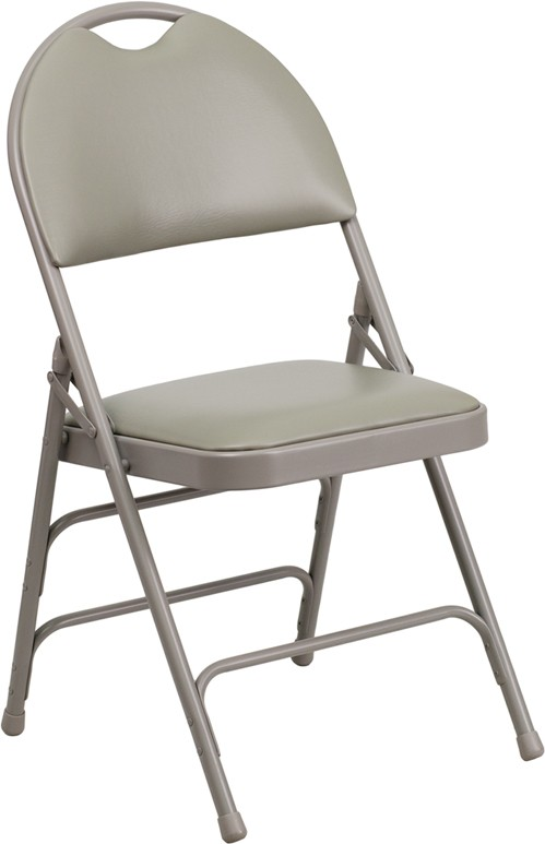 Magnificent Signature Series Extra Large Ultra Premium Triple Braced Metal Folding Chair With Easy Carry Handle 6 Seat Options Dailytribune Chair Design For Home Dailytribuneorg