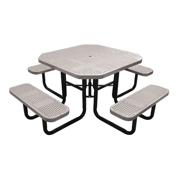 46 Quot Octagonal Perforated Metal Portable Table