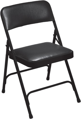 Swell Nps Vinyl Upholstered Premium Folding Chair Black Vinyl Black Frame 1210 Ocoug Best Dining Table And Chair Ideas Images Ocougorg