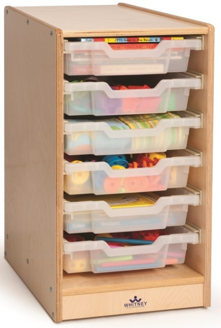 Clear Tray Single Storage Cabinet By