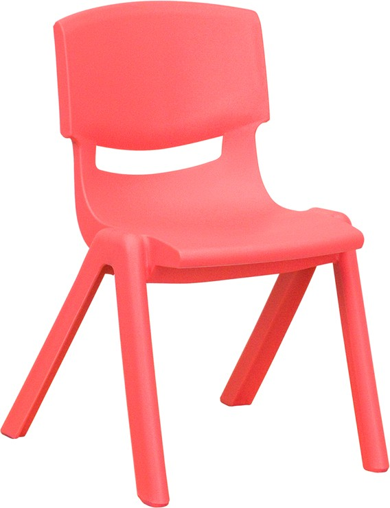 Plastic Stackable School Chair with 12\'\' Seat Height - 3 Seat Options