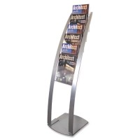 Deflect-O Contemporary Literature Floor Stand - Various Colors