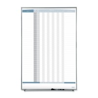 """Quartet In/Out Board, Magnetic, 36 Names, Vertical, 34"""" x 23"""", White"""