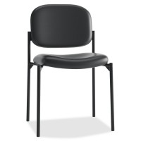 Black Leather - basyx by HON VL606 Guest Chair