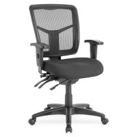 "Lorell MidBack Seat Slider Chair, 25"" x 25"" x 40½"", Black"