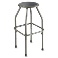 """Safco Fixed Height Stool, 17½"""" x 17½"""" x 29½"""", Pewter"""
