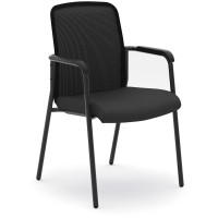 basyx by HON VL518 Mesh Back Stacking Chair With Fixed Arms