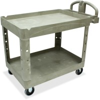 Rubbermaid 2 Shelf Carts, with Lipped Shelf - Various Sizes