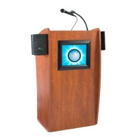 Vision Lectern with Sound and Screen 612-S by Oklahoma Sound