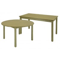 """LB Series 24""""x48"""" Rectangular Library Table & LB Series 36"""" Round Library Table"""