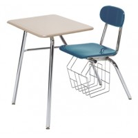 """Artcobell H457S Solid Plastic H400 Series Four Leg Combination Desk 17½"""" Height"""