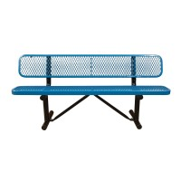 Standard Expanded Metal Bench with Back by Leisure Craft