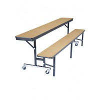 8' Convertible Bench Table - National Public Seating CBG96-PBTMPC