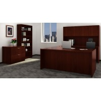 Chateau Office Suite Ensemble in Mahogany - Choose Components