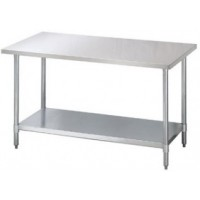Chernoff Stainless Steel Cafeteria Food Prep Tables - Choose Size