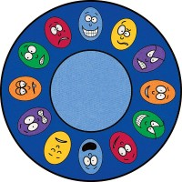 Large Round Expressions Rug CPR437