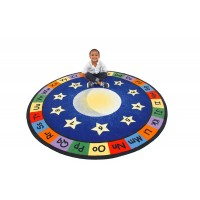 Moon and Stars small round rug