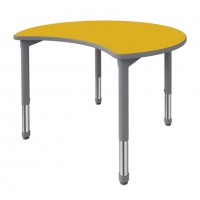 Artcobell Crescent Discover Shape Table with Sol Dry Erase Laminate