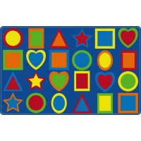 All Kinds of Shapes Primary Colors Educational Rug