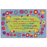God's Garden Isaiah 58:11 Faith-Based Rug