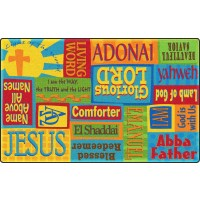 Precious Names of God Faith-Based Rug